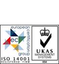 UKAS 14001 logo