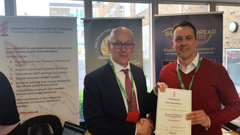 Level 3 Qualification in Passive Fire Protection